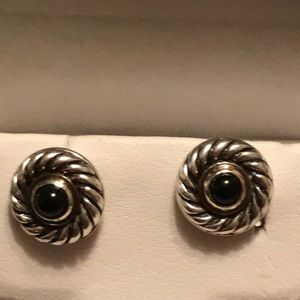 Authentic David Yurman Earring with Onyx